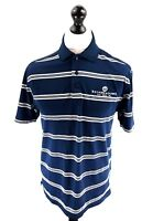 UNDER ARMOUR BRYN MEADOWS Mens Polo Shirt M Medium Blue White Polyester Golf