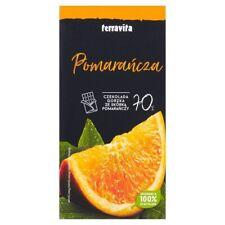 Czekolada gorzka 70% kakao ze skórką pomarańczową Terravita, 90g