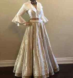 Taffeta Silk Embroidery Work Lehenga Party Wear Indian Designer Wedding Choli