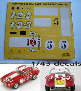 1/43 DECALS CAR FERRARI 250MM CARRERA PANAMERICANA 53 FULL DECAL