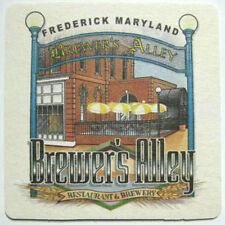 BREWER'S ALLEY BREWERY Beer COASTER Mat w/ Brewery Scene Frederick MARYLAND 2005