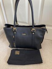 NEW TAGS BIBA Black Leather Studded HandBag black With Dust Bag £289