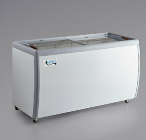 "NEW 60"" Ice Cream Glass Store Freezer 13 cu. ft. Showcase Display Commercial ETL"