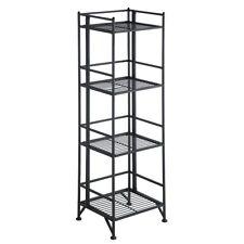 Convenience Concepts Xtra Storage 4 Tier Folding Metal Shelf, Black - 8017B