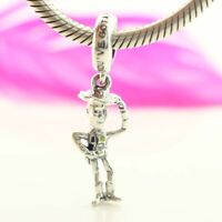 925 Sterling Silver Dis Toy Story Woody Dangle Charm Fit Bracelet Chain NEW