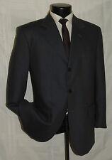 D-630 YVES SAINT LAURENT Blue & Beige 3 Button side vent men's jacket coat 40 R