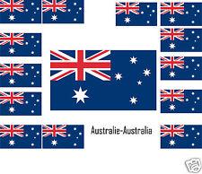 Assortiment lot de 25 autocollants Vinyle stickers drapeau Australie-Australia