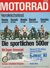 Motorrad 8 78 Vink Kawasaki 500 S Desmo CX 500 XS 500 Ducati 750 SS Bajohr 1978