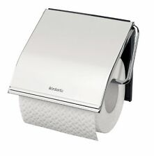 Portarotolo WC Brabantia con coprirotolo acciaio inox 414589