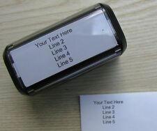 Return Address Self-Inking Rubber Stamper- Customize up to 5 lines of text Black