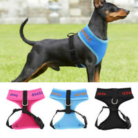 Embroidered Dog Harness Personalised with Name Pet Mesh Vest Harness Customized
