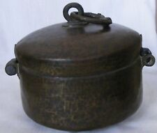 A Mughal For Gold / Silver Coin Box Made By Heavy Gauge Beaten Brass Sheet