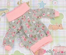 ☆╮Cool Cat╭☆205.【NI-28N】Blythe Pullip Lovely Clothes # Pink+Grey Flower
