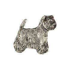 West Highland White Terrier, silver covered pin, high qauality Art Dog Ca