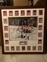 1980 Miracle on Ice USA Hockey Team Signed Photo Framed