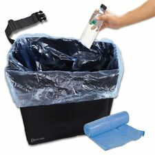 Zento Deals Black Trash Can Bin Water Leak Proof One Roll Garbage Bags Free