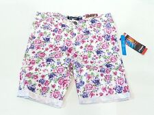 Tractor Brand Girls Stretch Bermuda Shorts Pink Rose Print US Size 12 NWT