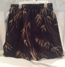 New Aylua Bay Resort Wear Maui Mens Swimwear Size Small Color Black Floral