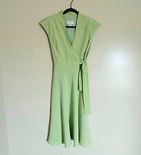 Vintage 100% Silk Green Dress Size 10