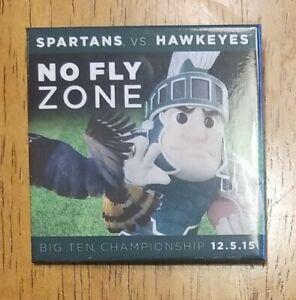 2015 Big Ten Championship Game Pin Michigan State Spartans MSU No Fly Zone