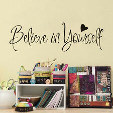 Fashion Believe In Yourself Inspirational Vinyl Quotes Lettering Wall Sticker