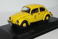 "VW Käfer 1200 ""Deutsche Post"" 1983 gelb 1:43 Minichamps neu & OVP 400057197"