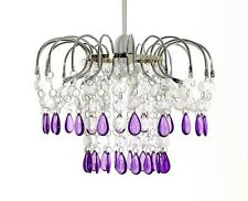Red Chandelier Style Acrylic Crystal Jewels Ceiling Light Pendant Shade Poppy