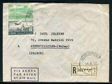 Liban - Enveloppe commerciale en recommandé de Beyrouth pour la France en 1952 -