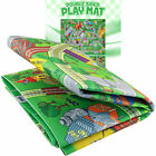 Double Sided Kids Play Mat Trains Roads Rug for Toddlers Railroad City Toys Fun