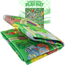 Double Sided Kids Play Mat Trains Roads Play Rug for Toddlers Railroad City Toys