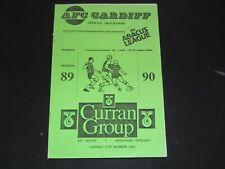 1989-90 ABACUS LEAGUE AFC CARDIFF v ABERGAVENNY THURSDAYS