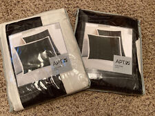 "New Euro Sham ""Illusion� Black and White Pillow Sham Size 26x26 Apt 9 - Set Of 2"