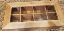 Estilo Bamboo Tea Storage Box, 8 Equally Divided Compartments