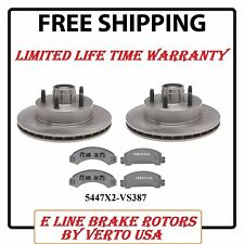 Disc Brake Rotors & Metallic Pads for Ford Aerostar 1992-1997 Front Set 2WD Only