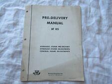 Massey Ferguson MF85 hydraulic system pre-delivery checks service manual