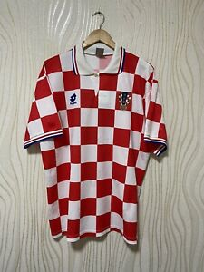 CROATIA 1995 1996 HOME FOOTBALL SHIRT SOCCER JERSEY LOTTO VINTAGE sz XL