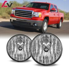 For GMC Sierra 07-14 Clear Lens Pair Bumper Fog Light Lamp OE Replacement DOT