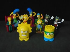 Lot Of 10 Simpson Family Toys From Burger King