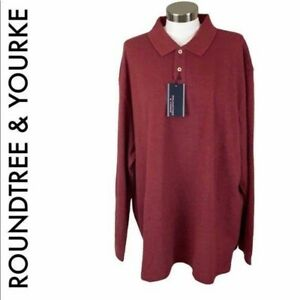 ROUNDTREE & YOURKE NWT MEN'S RED LONG SLEEVE XXL