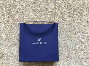 Swarovski Crystal Silver Bangle With Gold Stones in Box