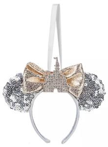 Disney Parks Minnie Fantasyland Castle Headband Ears Holiday Ornament - NEW