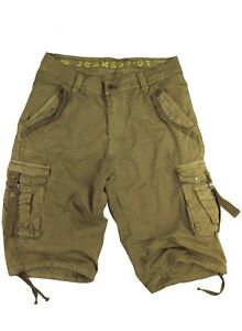"""BNWT: MENS  sizes:30- 54  Inseam: 15"""" MILITARY-STYLE CARGO SHORTS S/#A8S"""