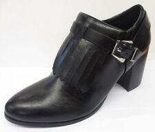 Zip Block Heel Animal Print Leather Boots for Women
