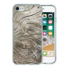 For Apple iPhone 7 Silicone Case Wood Print - S576
