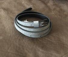 Women's Silver Glitter Belt