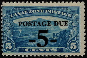 Canal Zone - 1930 - 5 Cents on 5 Cents Surcharged Postage Due # J23 Mint NH VG-F