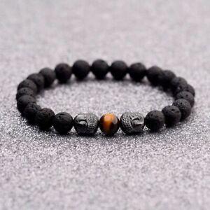 Handmade Hematite Lava Charm Bracelets Men Energy Bracelet Women's Jewelry Gifts