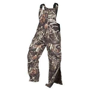 Cabela's Mens Waterfowl Extreme Realtree Max-4 Insulated Waterproof Hunting Bibs