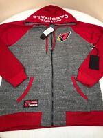 Arizona Cardinals Sweatshirt Mens Large NFL Team Apparel Gray Hoodie Zipper