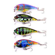 Painted Crankbait Fishing Lure Little Fat Hard Bait 4Pcs 9g 5.5cm/2.16inch